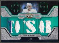 2008 Topps Triple Threads Relic Emerald Tony Romo