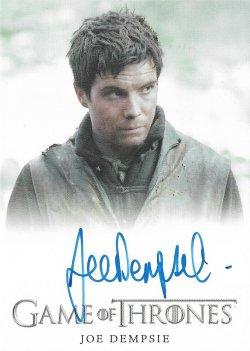2018  Rittenhouse Game of Thrones Season 7 Autographs Full Bleed Joe Dempsie as Gendry