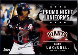 2015 Topps Pro Debut Promo Night Uniforms Daniel Carbonell IP Auto