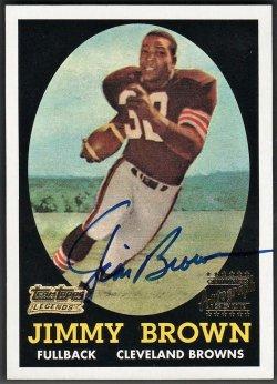 2001   Jim Brown Topps Team Legends 1958 Rookie Reprint Auto SSP