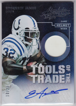 2013 Panini Absolute Tools of the Trade Helmets Signatures Edgerrin James