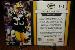 2011 Panini Black Friday SB XLV Pylon Prime Nick Collins