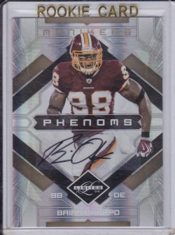 Brian Orakpo 2009 Limited Monikers Autographs Gold /5