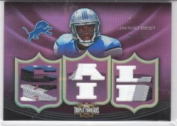 2010 Topps Triple Threads Relic Ruby  Jahvid Best