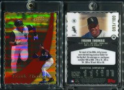 2000  Topps Gold Label Class 3 Gold Die Cut Frank Thomas
