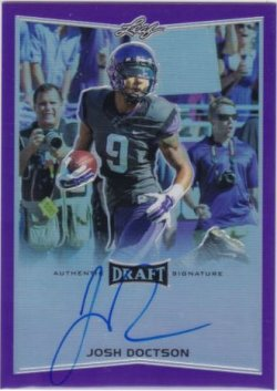 2016 Leaf Metal Draft Josh Doctson Purple Auto