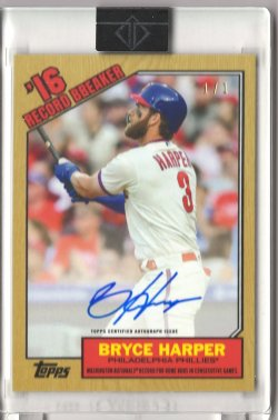 2020t Topps Transcendent Bryce Harper 1987 Through the Years Autograph