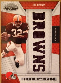 2010 Panini Certified  Jim Brown FOTG Team Name Die Cut
