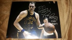 Rick Barry 8x10 IP Autograph