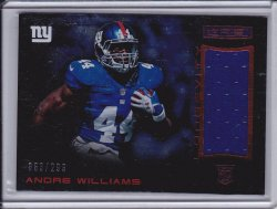 Andre Williams 2014 R&S Longevity Rookie Materials Longevity Ruby /299