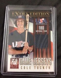2013 Panini Elite Extra Edition Cole Tucker Game Jerseys