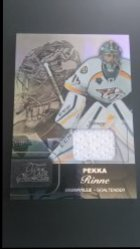 2015-16 Fleer Showcase Flair Materials Row 1 #3 Pekka Rinne