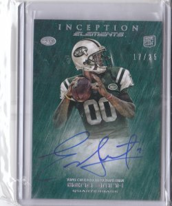 2013 Topps Inception Elements Autographs Fog Geno Smith