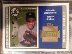 2002 Topps archives Seat Relics #TSRYB Yogi Berra 54 A