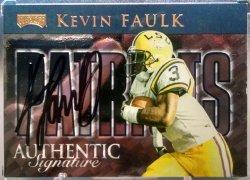 1999 Playoff Prestige SSD Kevin Faulk checklist autographs