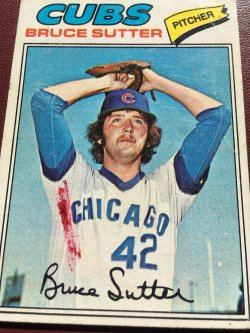 1977 Topps RC  BRUCE SUTTER #144 Chicago Cub Brave Cardinal AllStar RHP