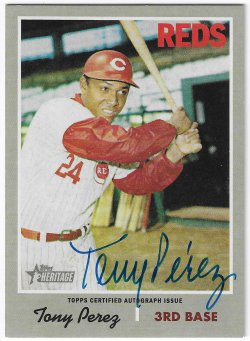 2019 Topps Heritage High Number Tony Perez - Real One Autograph