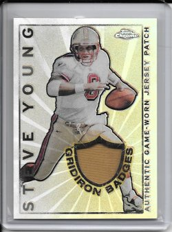 2002 Topps Chrome Gridiron Badges Jersey - Steve Young