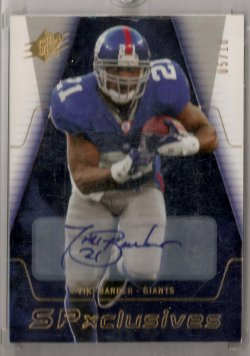 2006 Upper Deck SPx Tiki Barber SPxclusive Autographs