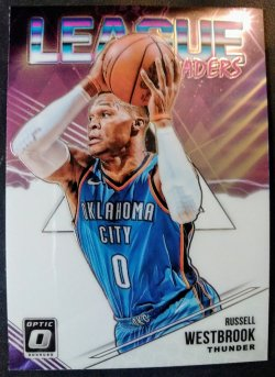 2018-19 Panini Optic League Leaders Russell Westbrook