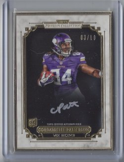 2013 Topps Museum Collection Cordarrelle Patterson Gold Frame Auto