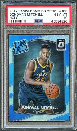 2017   Donovan Mitchell Optic Rated Rookie Holo Refractor RC PSA 10