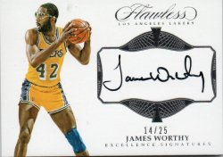 2016-17 Panini Flawless Worthy, James - Excellence Signatures