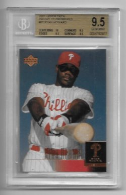 2001 Upper Deck Prospect Premieres Ryan Howard Star Rookie