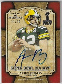 2011 Topps Five Star Aaron Rodgers - Super Bowl XLV MVP Autograph
