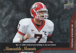 2014 Upper Deck Conference Greats Memorable Moments  Matthew Stafford