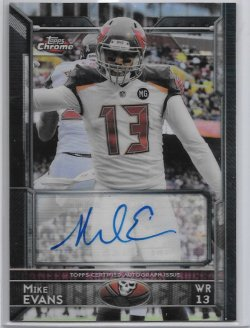 2015 Topps Chrome Veteran Refractor Autograph - Mike Evans