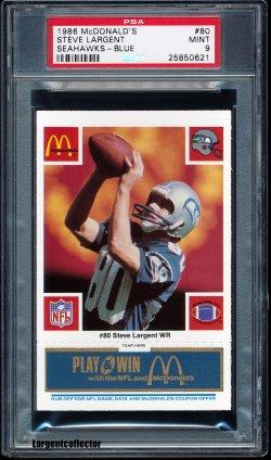1980  McDonalds Blue Steve Largent