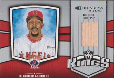 "2005  Donruss  Vladimir Guerrero ""Bat Kings"" GU Bat"