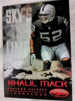 2014 Panini Certified Khalil Mack Skys the Limit Rookie Red Parallel