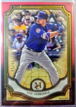 2018 Topps Museum Red Kyle Schwarber