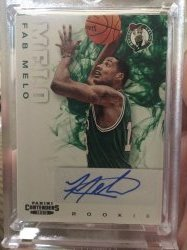 2012-13 Panini Contenders Fab Melo Rookie Auto
