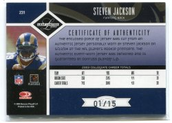 2004 Leaf Limited Steven Jackson Silver Spotlight Back