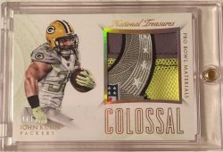 2015 Panini National Treasures John Kuhn Colossal Pro Bowl Logo Patch