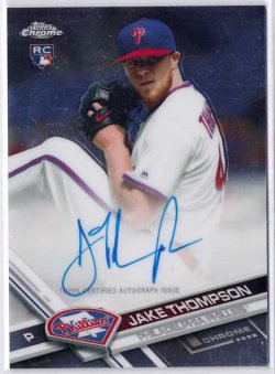 2017 Topps Chrome Rookie Autographs Jake Thompson