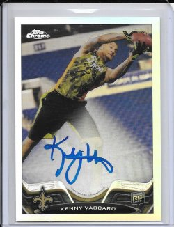 2013 Topps Chrome Refractor Rookie Autograph - Kenny Vaccaro