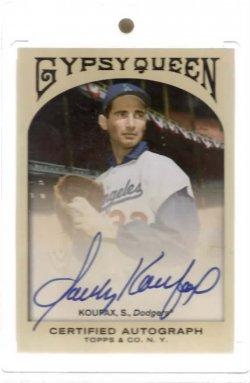 2011 Topps Gypsy Queen Autograph SP Sandy Koufax #BestCard