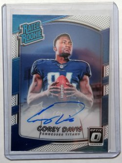 2017 Panini Donruss Optic Corey Davis Rated Rookie Auto