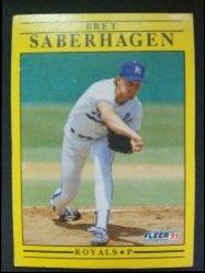 1991 Fleer  Brett Saberhagen P