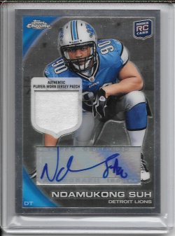 2010 Topps Chrome Rookie Autograph Patch - Ndamukong Suh