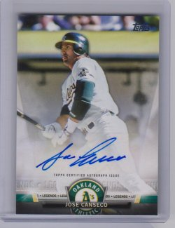 2018 Topps 2018 Topps Salute Autographs #SAJCA Jose Canseco jose canseco