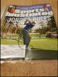 Sports Illustrated Magazine  Jordan Spieth IP Autograph