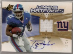 2006 Upper Deck SPx Tiki Barber Winning Materials Autograph