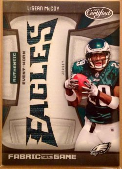 2009 Panini Certified Fabric of the Game Team Die Cut LeSean McCoy