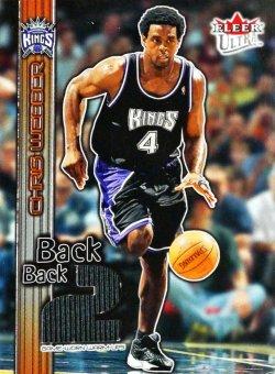 2002-03  Ultra Back 2 Back Game Used Chris Webber #ed 367/500