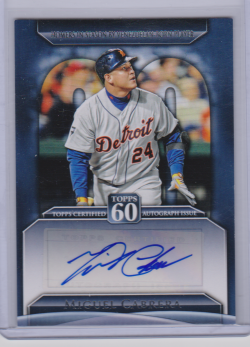 2011 Topps 60th auto update miguel cabrera